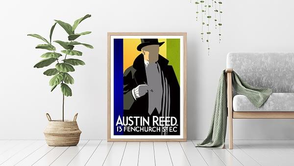 Austin Reed Vintage Poster Don Henderson